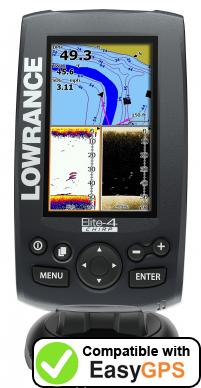 Download your Lowrance Elite-4 CHIRP waypoints and tracklogs for free with EasyGPS