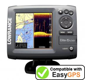 Download your Lowrance Elite-5 DSI waypoints and tracklogs for free with EasyGPS