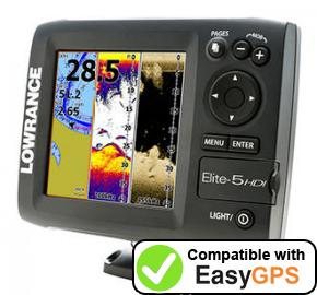 Download your Lowrance Elite-5 HDI waypoints and tracklogs for free with EasyGPS