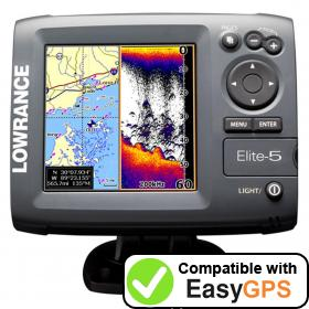 Download your Lowrance Elite-5 waypoints and tracklogs for free with EasyGPS