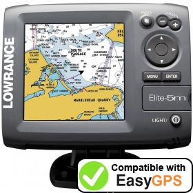 Download your Lowrance Elite-5m HD Gold waypoints and tracklogs for free with EasyGPS