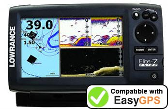 Download your Lowrance Elite-7 CHIRP Gold waypoints and tracklogs for free with EasyGPS