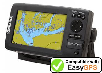 Download your Lowrance Elite-7m Gold waypoints and tracklogs for free with EasyGPS