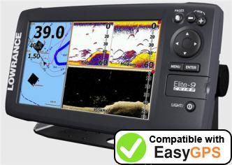 Download your Lowrance Elite-9 CHIRP waypoints and tracklogs for free with EasyGPS