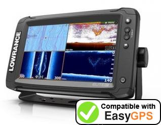 Download your Lowrance Elite-9 Ti waypoints and tracklogs for free with EasyGPS