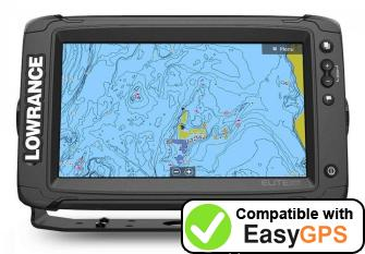 Download your Lowrance Elite-9 Ti2 waypoints and tracklogs for free with EasyGPS