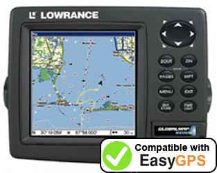 Download your Lowrance GlobalMap 3500C waypoints and tracklogs for free with EasyGPS