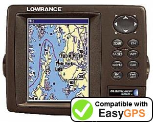 Download your Lowrance GlobalMap 5150C waypoints and tracklogs for free with EasyGPS