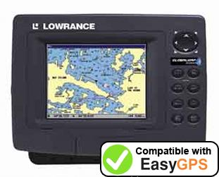 Download your Lowrance GlobalMap 5200C waypoints and tracklogs for free with EasyGPS