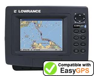 Download your Lowrance GlobalMap 5500C waypoints and tracklogs for free with EasyGPS