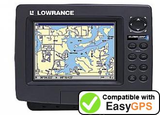Download your Lowrance GlobalMap 6000C waypoints and tracklogs for free with EasyGPS