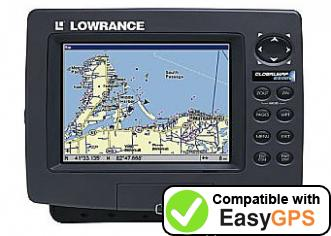 Download your Lowrance GlobalMap 6500C waypoints and tracklogs for free with EasyGPS