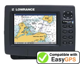 Download your Lowrance GlobalMap 6600C HD waypoints and tracklogs for free with EasyGPS