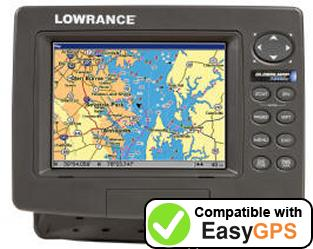 Download your Lowrance GlobalMap 7200C waypoints and tracklogs for free with EasyGPS