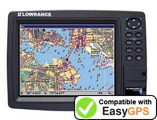 Download your Lowrance GlobalMap 7500C waypoints and tracklogs for free with EasyGPS