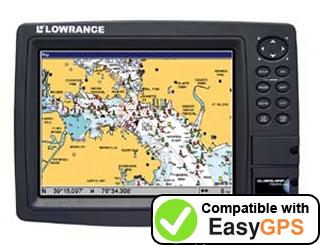 Download your Lowrance GlobalMap 7600C HD waypoints and tracklogs for free with EasyGPS
