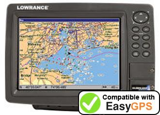 Download your Lowrance GlobalMap 8200C waypoints and tracklogs for free with EasyGPS