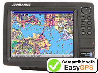 Download your Lowrance GlobalMap 9200C waypoints and tracklogs for free with EasyGPS