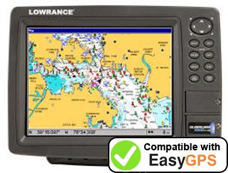 Download your Lowrance GlobalMap 9300C HD waypoints and tracklogs for free with EasyGPS