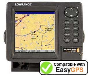 Download your Lowrance GlobalMap Baja 540C waypoints and tracklogs for free with EasyGPS