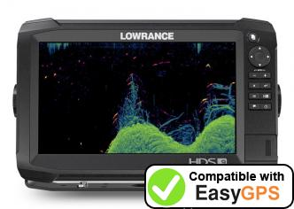 Download your Lowrance HDS Carbon 9 waypoints and tracklogs for free with EasyGPS