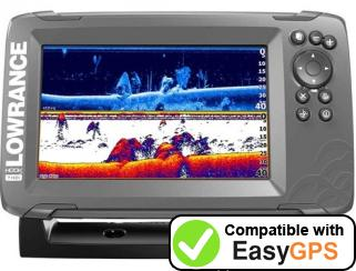 Download your Lowrance HOOK-7 waypoints and tracklogs for free with EasyGPS