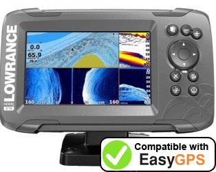 Download your Lowrance HOOK2-5 waypoints and tracklogs for free with EasyGPS