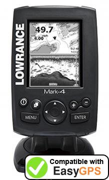 Download your Lowrance Mark-4 waypoints and tracklogs for free with EasyGPS