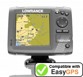 Download your Lowrance Trophy-5m Baja waypoints and tracklogs for free with EasyGPS