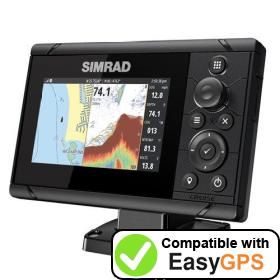 Download your Simrad Cruise 5 waypoints and tracklogs for free with EasyGPS