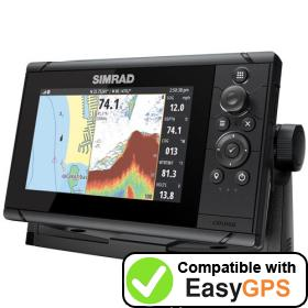 Download your Simrad Cruise 7 waypoints and tracklogs for free with EasyGPS