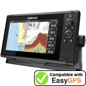 Download your Simrad Cruise 9 waypoints and tracklogs for free with EasyGPS