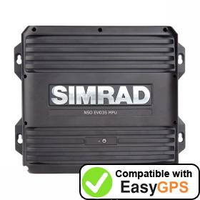 Download your Simrad NSO evo3S waypoints and tracklogs for free with EasyGPS